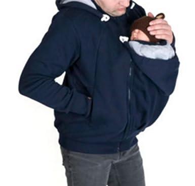 Sudadera con capucha de lana de canguro para hombre Chaqueta ...