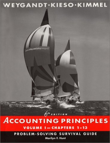 Accounting Principles, Chapters 1-13, Problem-Solving Survival Guide (Volume 1) -