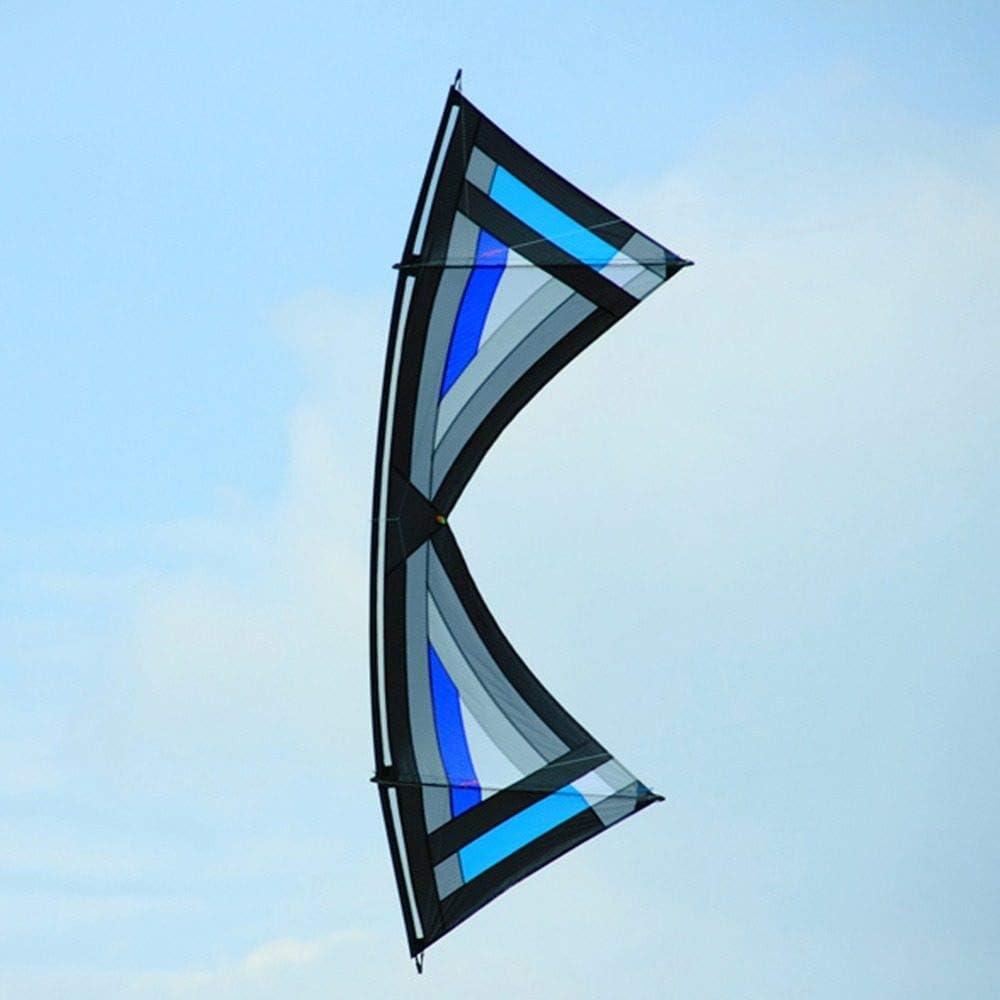 SDCVRE Cometas Juguetes al Aire Libre Cometa 2.4m Tracción Power Stunt Kite Quad Line Sport Kite con Kite Flying Handle