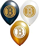 Bitcoin Balloons | Colorful Latex Balloons (20-Count) Happy Birthday Party or Event Use | Fill with Air or Helium | Kid-Friendly