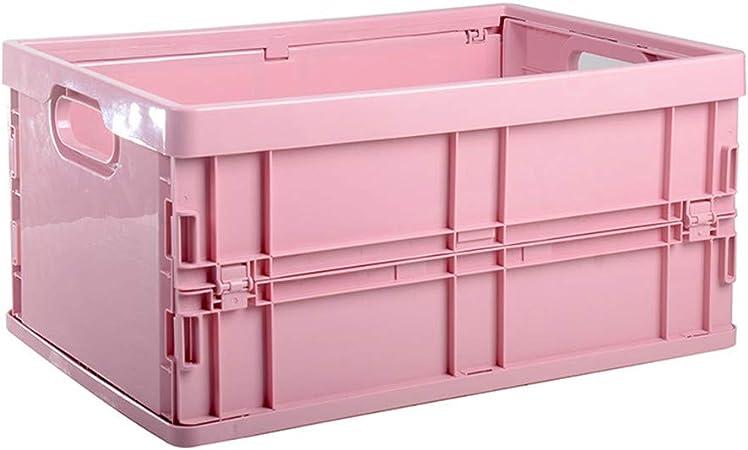2 PCS grande plegable Caja organizador Cajas cajón del maletero del coche de almacenamiento Ahorro de espacio de almacenamiento de contenedores Hogar, Nursery organizadores,Rosado: Amazon.es: Hogar