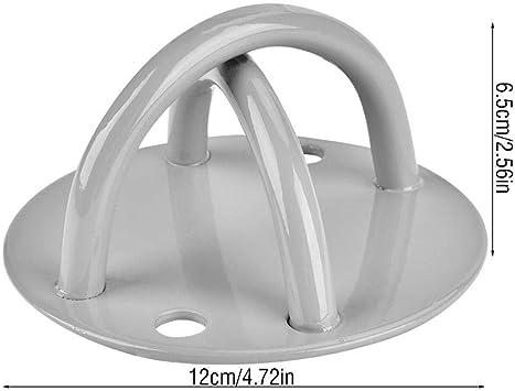Gancho para techo suspensión, soporte para placa de anclaje de pared para Yoga Gancho para techo de acero apto ganchos interiores para anillos de ...