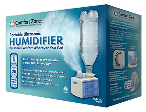 Comfort Zone Portable Ultrasonic Humidifier | Turn Bottle into Personal Portable Humidifier - 6 Hour Operation - Whisper Quiet by Comfort Zone (Image #2)