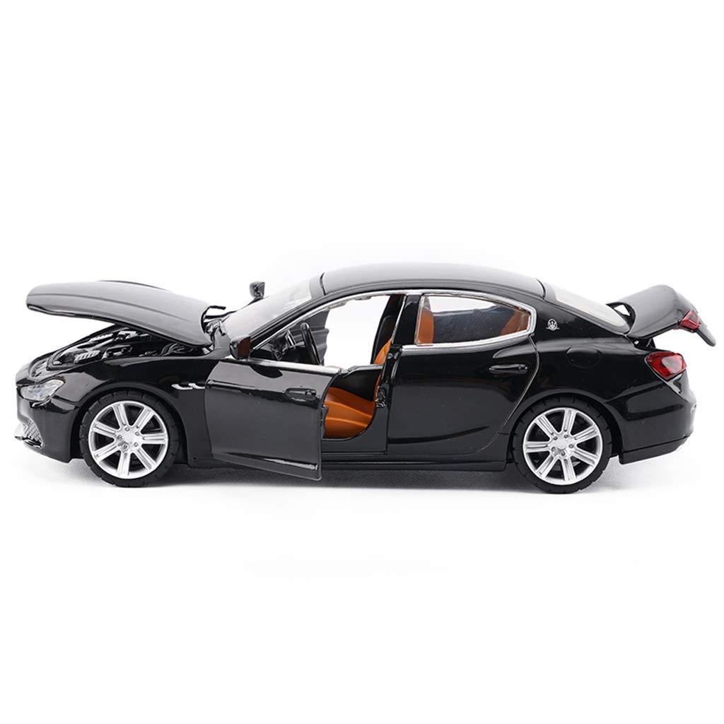 Colore : Nero 32 Simulazione in Lega pressofuso Giocattolo Modello di Auto Decorazione 15x6x5cm GLJJQMY Modello di Auto Maserati Ghibli1