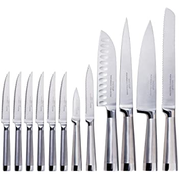 Oneida 13-Piece Stainless-Steel Performance Knife Set with Block