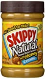 Skippy, Natural Peanut Butter, Creamy with Honey, 15oz Jar