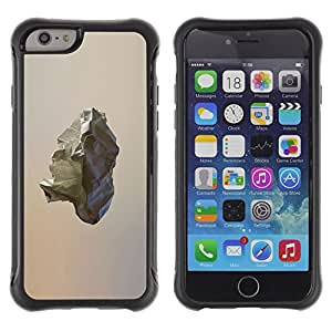 LASTONE PHONE CASE / Suave Silicona Caso Carcasa de Caucho Funda para Apple Iphone 6 / Comet Asteroid Rock Minimalist Art