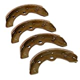 Brake Shoes(2 Short, 2 Long) Fits Club Car (1995-up) DS and Precedent Golf Cart 1018232-01