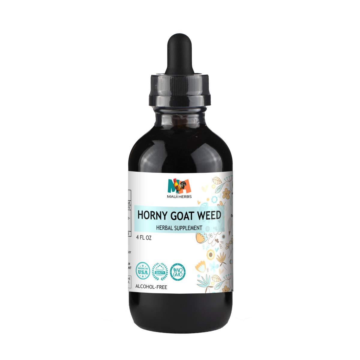 Horny Goat Weed Tincture Alcohol-Free Liquid Extract, Organic Horny Goat Weed Leaf (Epimedium Grandiflorum, Barrenwort) (4 FL OZ)