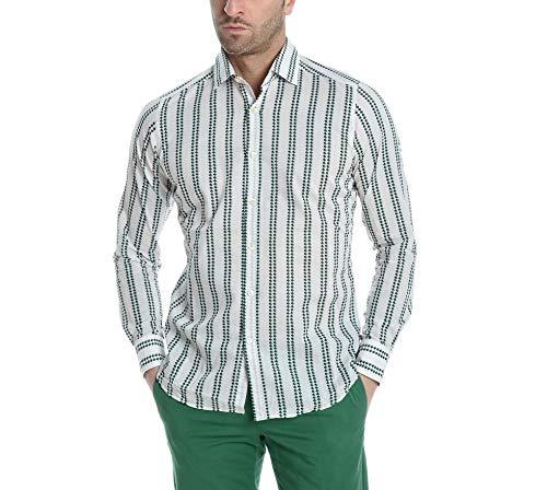 Bagutta Men's Berlinoeblr09085601 White Cotton Shirt
