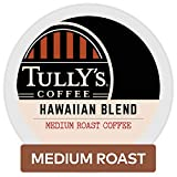 Tully's Coffee, Hawaiian Blend, Single-Serve Keurig K-Cup Pods, Medium Roast Coffee, 72 Count (3 Boxes of 24 Pods)