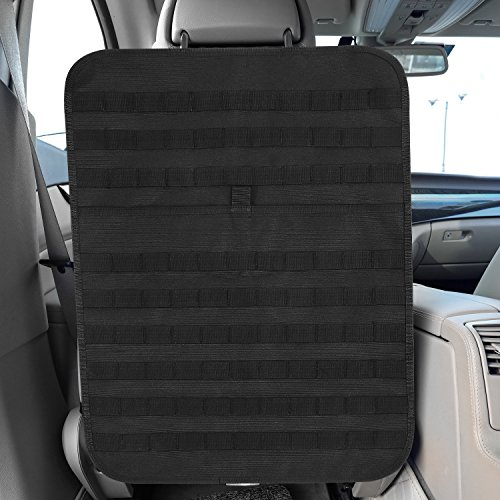 Car Seat Back Power Organizer Tactical MOLLE Panel Vehicle Seat Cover Protector