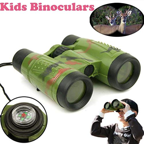 Livoty Magnification Toy Binocular Telescope Neck Tie Strap Lens Educational Toys for Child (Multicolor) by Livoty (Image #1)