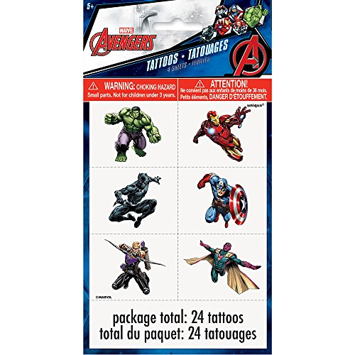 Avengers Tattoos, 24ct -