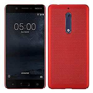 Nokia 3 Case Honeycomb Back Cover Slim Fit TPU Case- RED