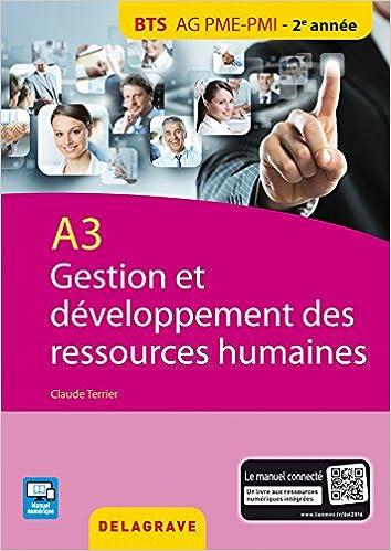 A3 gestion et développement des RH : BTS AG PME-PMI élève