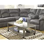Hattney Coffee Table - Cocktail Height - Rectangular - Gray