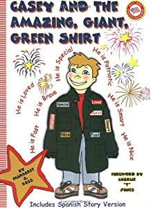 Casey And The Amazing Giant Green Shirt (English and Spanish Edition)