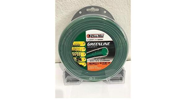 Oleo Mac - Hilo desbrozadora Redondo de 4, 0 mm GreenLine ...