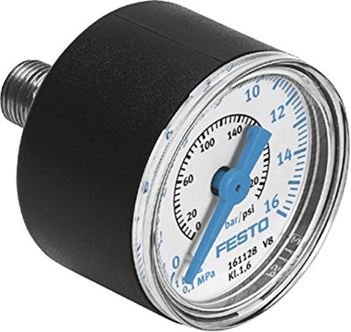 Festo 161128 Bar//Psi Precision Pressure Gauge 16 bar MAP-40-16-1//8-EN