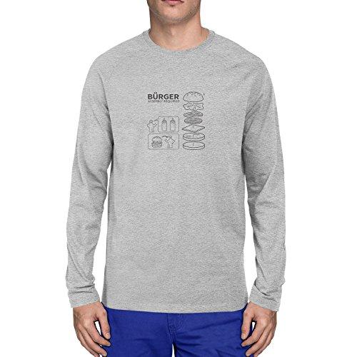 Planet Nerd - Bürger Assembly required - Herren Langarm T-Shirt, Größe S, grau meliert