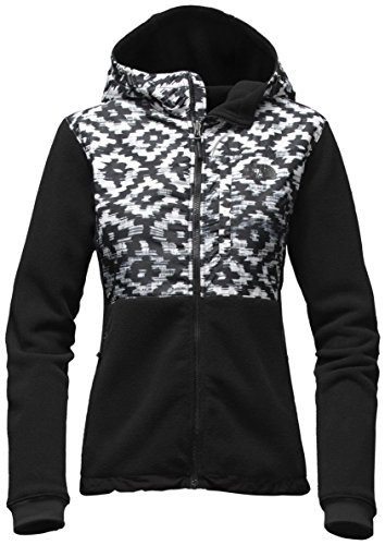 - The North Face Denali Hoodie Jacket - Women's TNF Black D-Kat Print/TNF Black X-Small