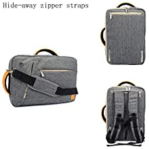 """VanGoddy 10.1 / 11.6 / 12.1 / 13.3 / 14 / 15.6"""" Universal Canvas Hybird Tote / Messenger / Backpack / Briefcase, 4-in-1 Multipurpose Laptop Carrying Bag (Grey, 10-12.2"""")"""