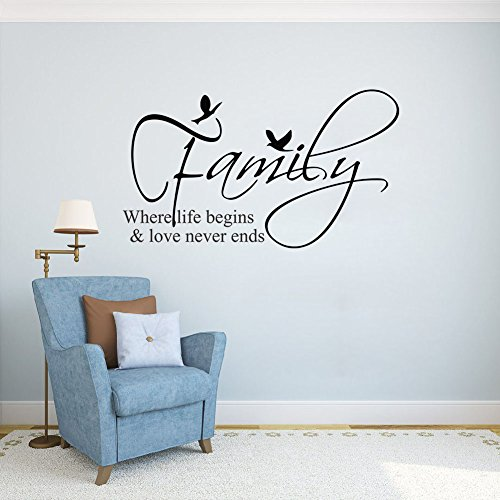 FAMILY begins ends Vinyl stickers sayings product image