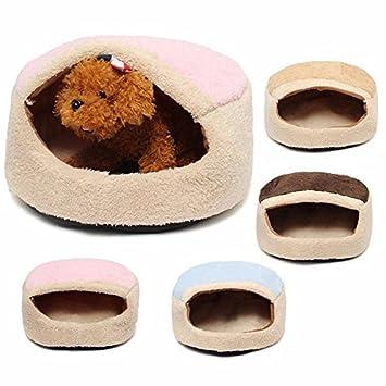 Camtoa perro mascota Cave redondo de casa Aserrín para cama Alfombrilla Para Totoro gato y pequeño perro mascota gato Cachorro de perro durmiendo Cave Bolsa ...