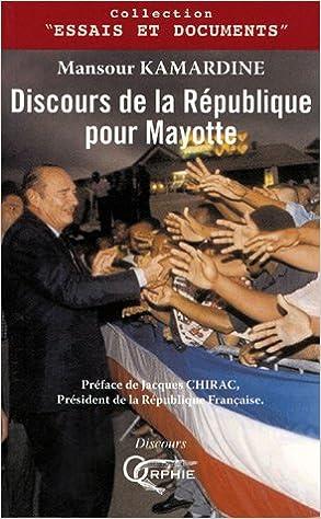 Lire Discours de la République pour Mayotte pdf