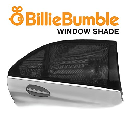 Billie Bumble Window Shade Conveniently Install on Rear and Front Car Windows. Shades the Sun Rays So You and Baby are Cool and Comfy. Universal Fit for All Cars, Better Than Roller Sunshades