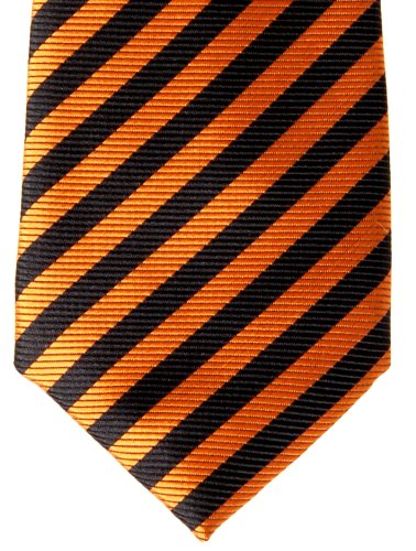 Colors Boy's Retreez Orange Stripe tied and Woven Black Various Striped Tie Pre OrICq0xwI