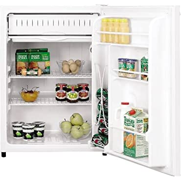 GE GCE06GGHWW Spacemaker 5.6 Cu. Ft. White Undercounter Compact Refrigerator Energy Star