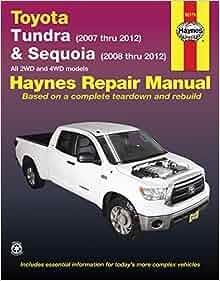 Toyota tundra 2007 2012 sequoia 2008 2012 haynes repair manual toyota tundra 2007 2012 sequoia 2008 2012 haynes repair manual haynes 0038345921797 amazon books fandeluxe Images