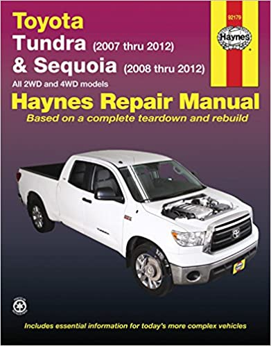 Toyota tundra 2007 2012 sequoia 2008 2012 haynes repair manual toyota tundra 2007 2012 sequoia 2008 2012 haynes repair manual 1st edition fandeluxe Image collections