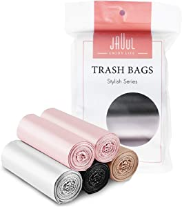 Stylish 4 Gallon Trash Bags Unscented for Office Small Garbage Bags Strong Bathroom Trash Can Liner Fantasy Luxury Colorful 100 Cts