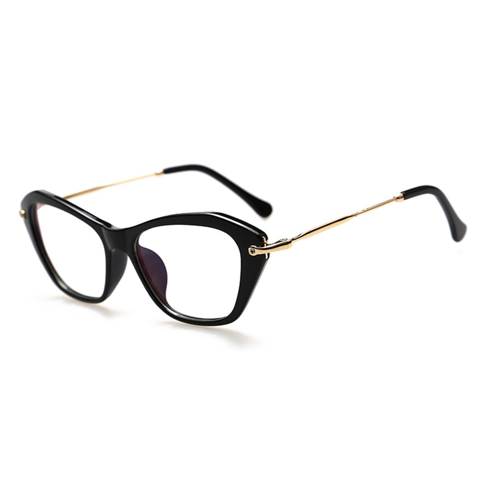 Hibote Occhiali Cat Eye da uomo donna - Occhiali da vista trasparenti - Occhiali da vista 122906 X171229YJJ0601-X