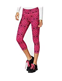 Ideology Women's Printed Cropped Leggings With Headband Pink/Black XL