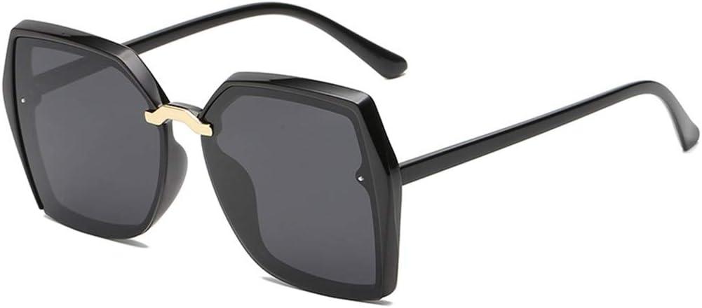 Shj Gafas de Sol polarizadas for Conducir, Marco con Estilo Retro Grandes Gafas de Sol, UV 400 Protección de los Ojos, Populares Harajuku Fashion Accessories Gafas de Sol sunhongjing (Color : 1)