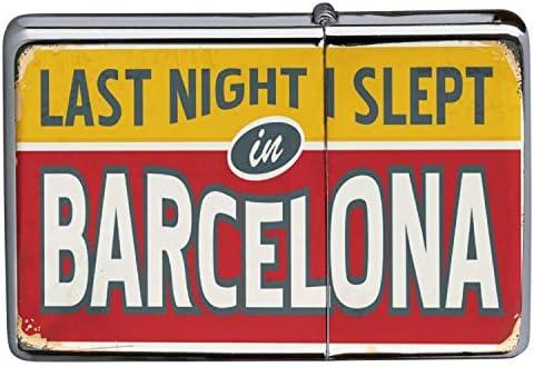 Encendedor Cromo De Gasolina Recargable Retro Wall Art Barcelona España: Amazon.es: Deportes y aire libre