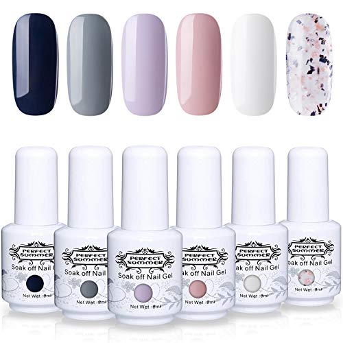 Perfect Summer Semi-permanent Gel Nail Polish 6 Colors Soak Off UV LED Manicure Fashion 8ML #015