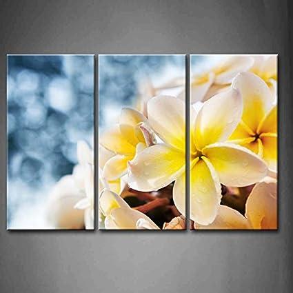 Amazon.com: First Wall Art - 3 Panel Wall Art Yellow Orange White ...