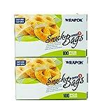 ziploc freezer pint - WRAPOK Snack Bag Zipper Food Storage Bags Small - 6.3 x 4 Inch (200 Count) Microwave Freezer Safe