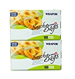 ziplock bags microwave - WRAPOK Snack Bag Zipper Food Storage Bags Small - 6.3 x 4 Inch (200 Count) Microwave Freezer Safe