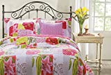 Greenland Home 5-Piece Love Letters Bonus Quilt Set, Full/Queen