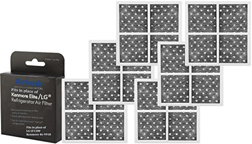 (6-Pack) Kenmore 469918 / LG LT120F Air Filter Replacement R-9918 by Refresh - ADQ73214402, ADQ73214404, 46-9918, 9918