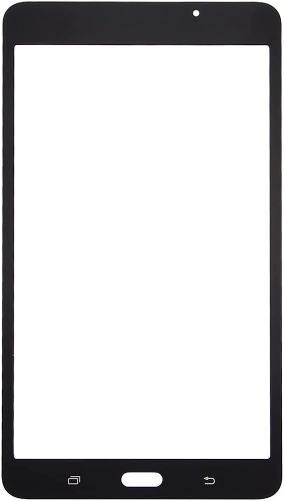 2016 Negro // T280 Color : Black Powerxu Nueva Lente de Cristal Exterior de la Pantalla Frontal for Galaxy Tab A 7.0