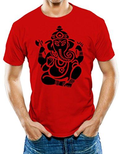 Universal Apparel Men's Ganesha T-Shirt Medium Red