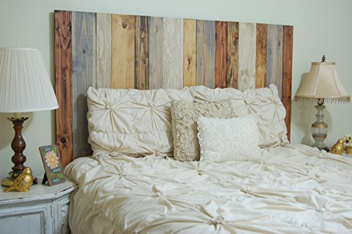 Rustic Mix Design - California King Hanger Headboard with Vertical Boards. Mounts on Wall. (Headboard King Bedroom California)