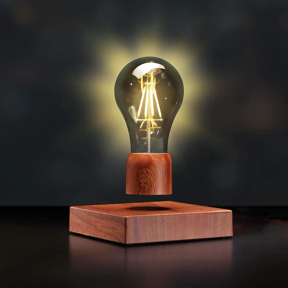 Magnetic Levitating Floating Wireless LED Light Bulb Desk Lamp for Unique Gifts, Room Decor, Night Light, Home Office Decor Desk Tech Toys
